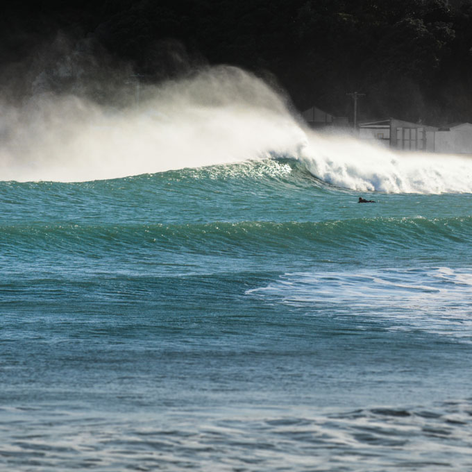 Surf in Titahi Bay by Wellington Photographer