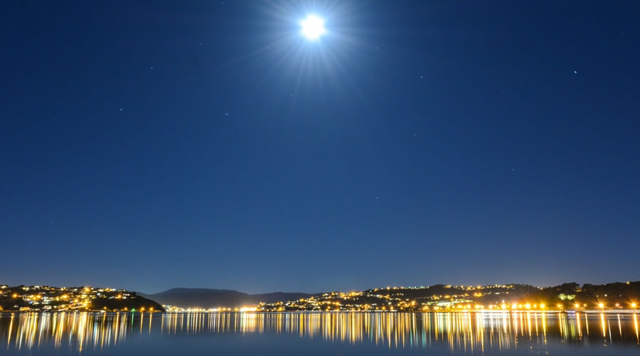 Porirua Harbour at Night by Porirua Photographer, Luke Pilkinton-Ching Vision Photography